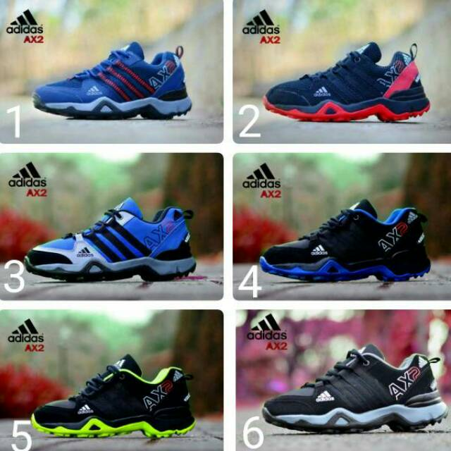 Sepatu Adidas jogging AX2 Casual Sport Running Sneakers Olahraga Pria Nike  Boots Airmax AX 2 Murah  bff9c8893c