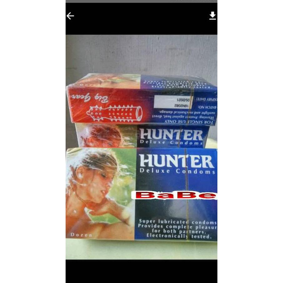 Kondom Hunter Kintur Bergerigi Halus Shopee Indonesia Artika