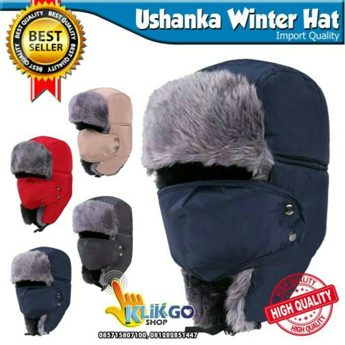 c4e6452fa READY TOPI RUSIA USHANKA IMPORT + MASKER WATER HAT \U002F TOPI