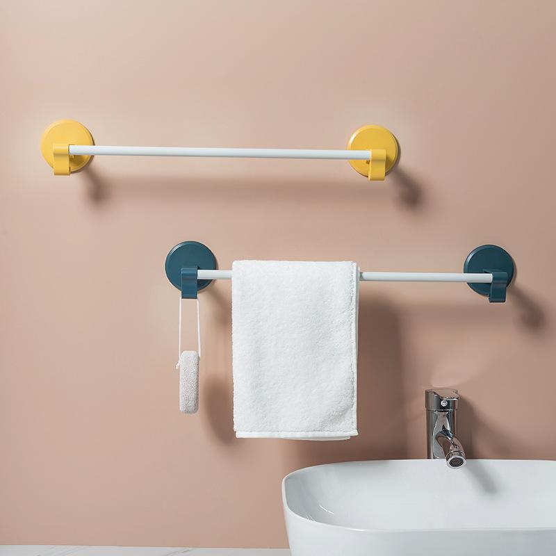 Self Adhesive Towel Rack Wall Mounted Bathroom Towel Bar Shelf Bath Towel Storage Shelf Kitchen Waterproof Holder Shopee Indonesia