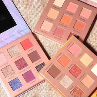 Official Distributor Focallure 9 Colors Eyeshadow Palette Ring The Alarm Soft Powder Night Elf FA62 thumbnail