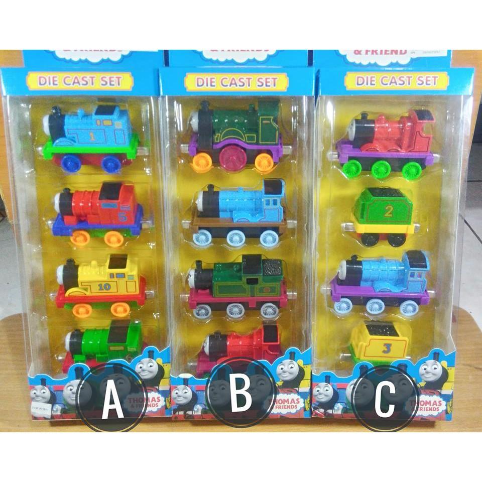 Mainan Set Kereta Api Thomas Train Set Toys Modern 5 Pcs Pull Back