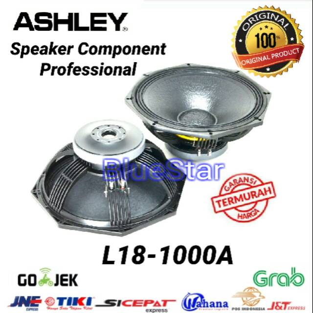 Speaker Component Ashley L18 1000A Woofer 18 inch