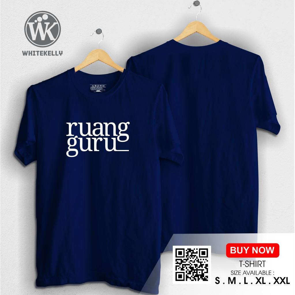 Kaos Baju Tshirt RUANG GURU APLIKASI Distro Terlaris Termurah Warung