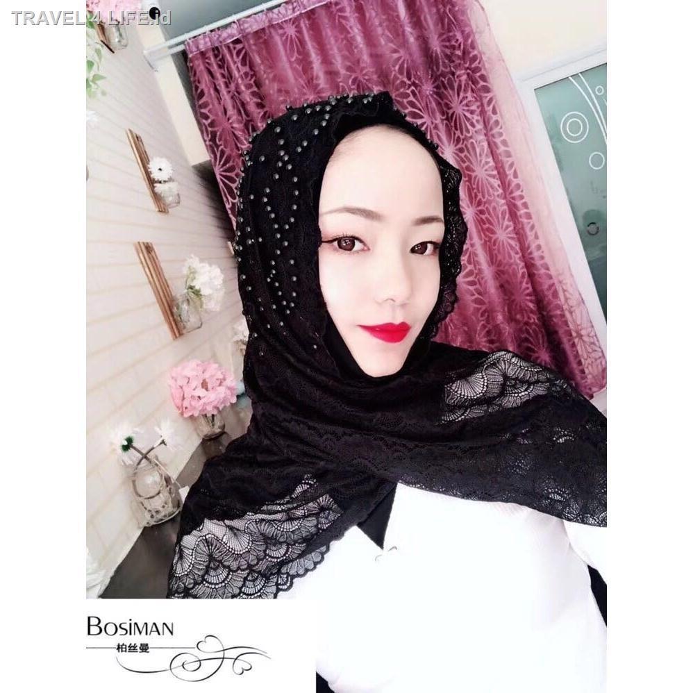 Hijab/Jilbab/Kerudung Panjang Bahan Sutra Untuk Wanita Muslim/Malaysia