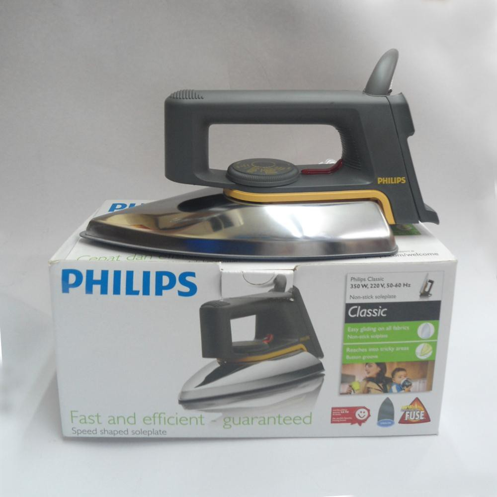 Setrika Philips Electric Dry Iron Classic Hd 1172 Hd1172 Gc160 Affinia Putih Ungu Shopee Indonesia