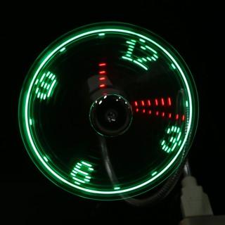 Jam LED Jam LED Mini Model Kipas Angin Bertenaga USB