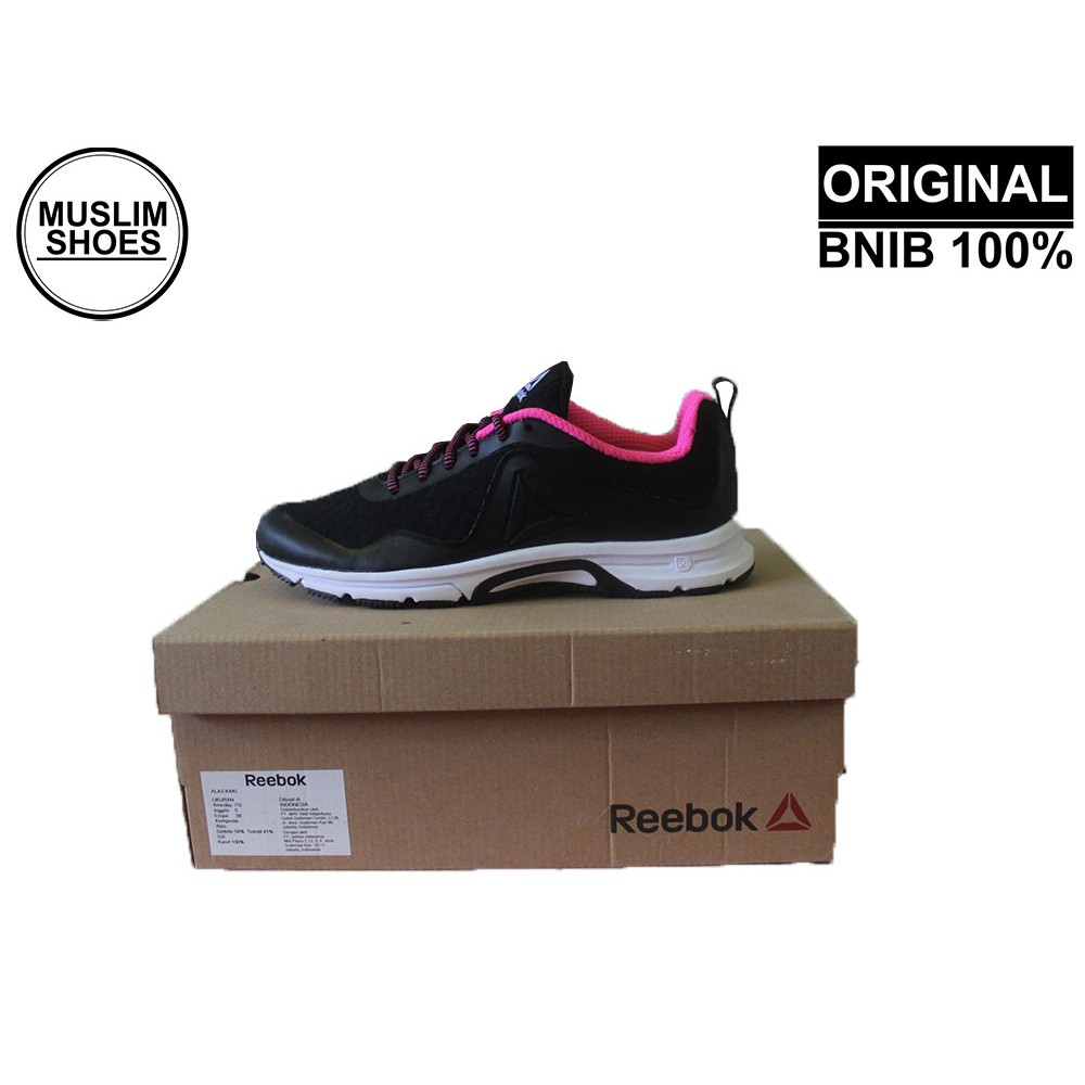 Reebok Triplehall 7 0 Original Hitam Pink Sepatu Lari Running