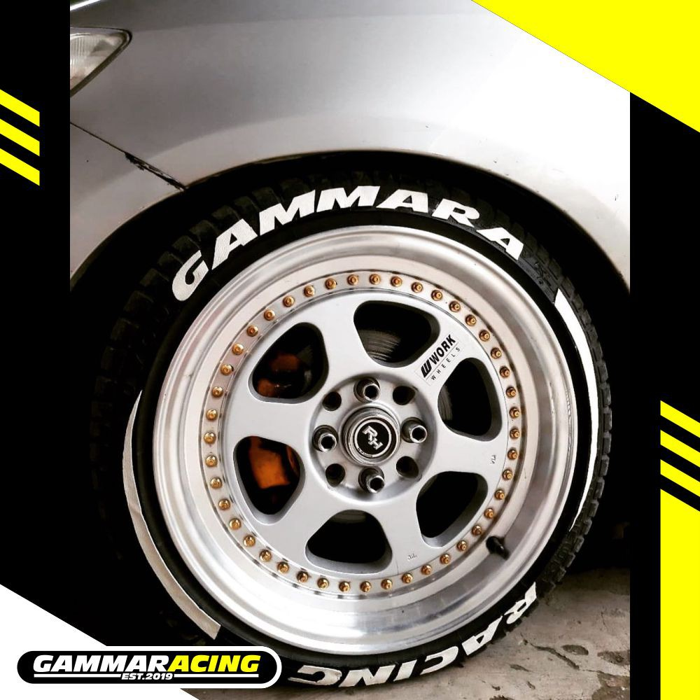 Best Gammaracing Custom Tire Sticker Tire Bomb Tire Letter Tire Graphic Stiker Ban Mobil Shopee Indonesia
