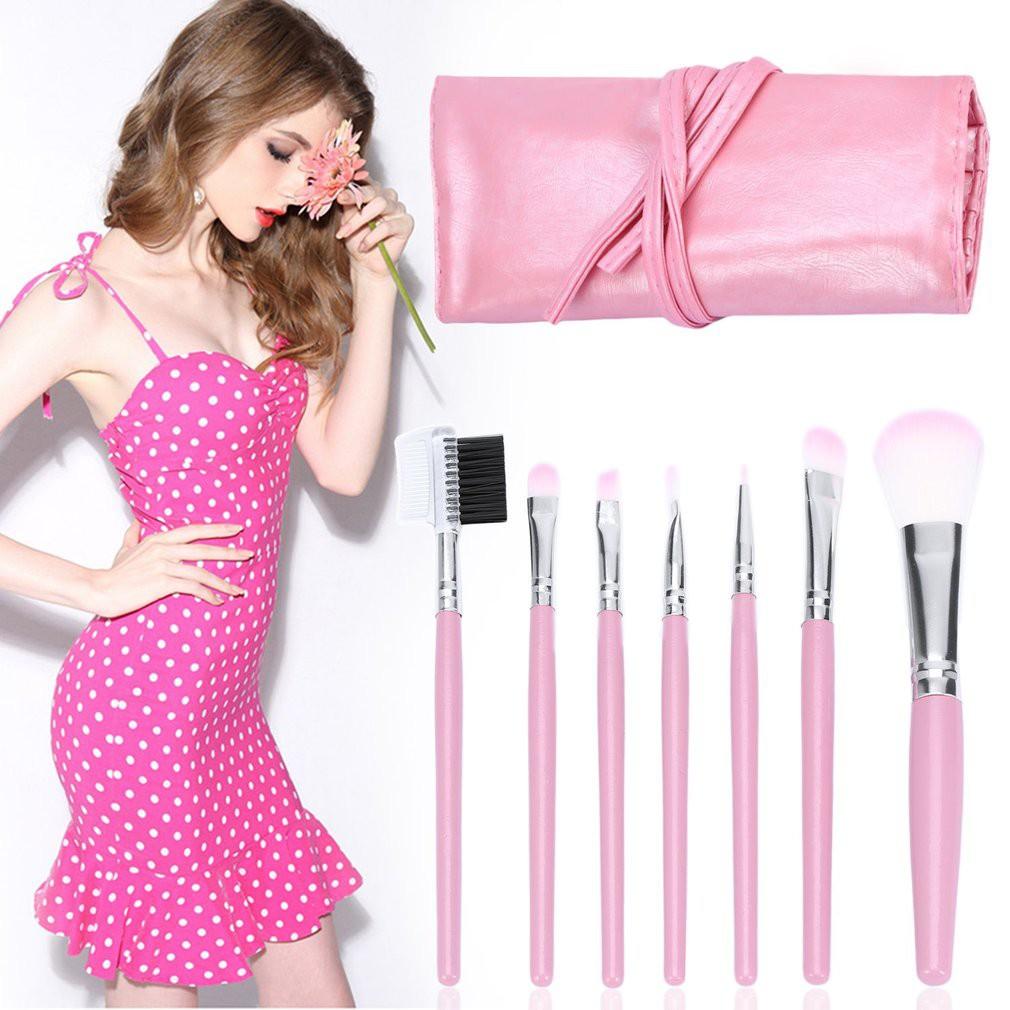 Mac Make Up Brush Kuas Makeup 32 Pcs 32pcs Dompet Tali Hitam Isi 12 Source Pink