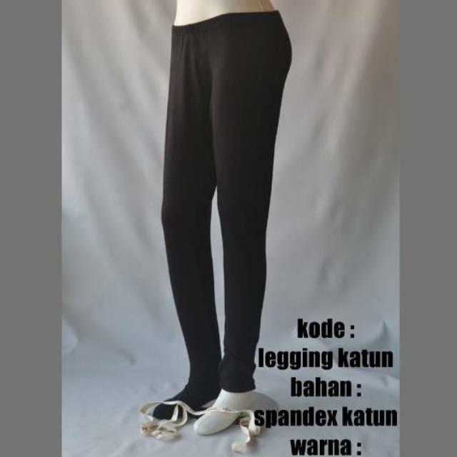 Legging Katun Standar Zetha Abu Asap