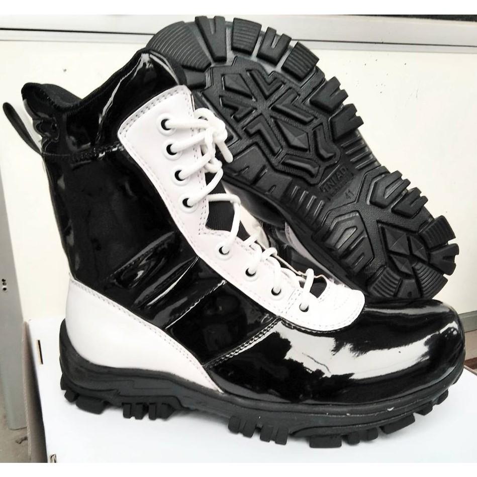 Sepatu Pdh Tni Polri Tali Resleting Mengkilap Shopee Indonesia Ressleting