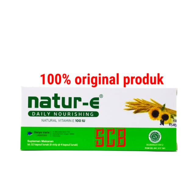 Natur-E 100 IU (BOX-Isi 32 Kapsul) - Vitamin E Kesehatan ...