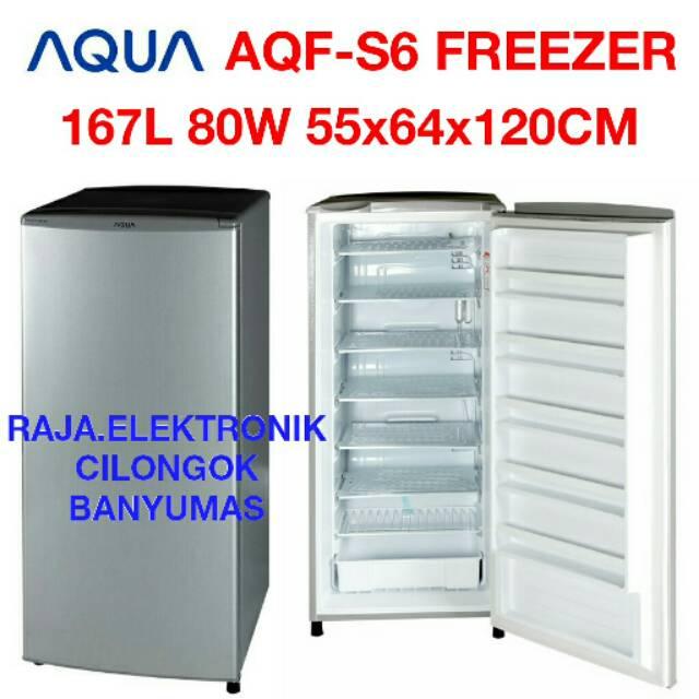 Aqua Sanyo AQF-S6 FREEZER 6RAK Free Ongkir Khusus JABODETABEK | Shopee Indonesia