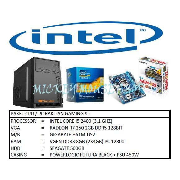 PC PAKET CPU / PC RAKITAN GAMING 9 /INTEL I5 2400 (3.1GHZ) / GT 730 2GB