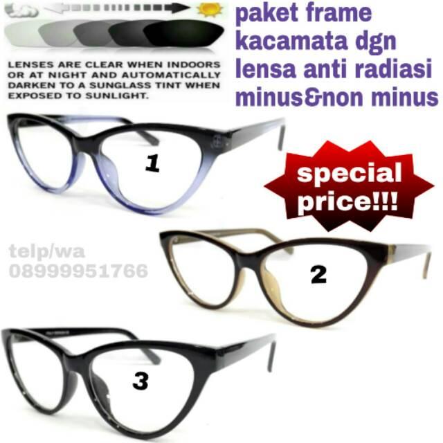 Paket frame kacamata nike magnesium dgn lensa anti radiasi minus non minus   e28576e0d2