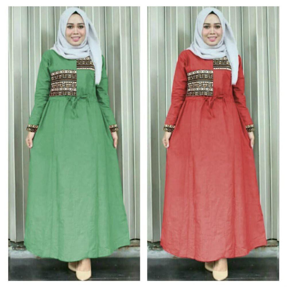 AYRA SYARI DRESS MAXI GAMIS WANITA l HIJAB PEREMPUAN l DRESS MUSLIM MUSLIMAH ISLAM INDONESIA l