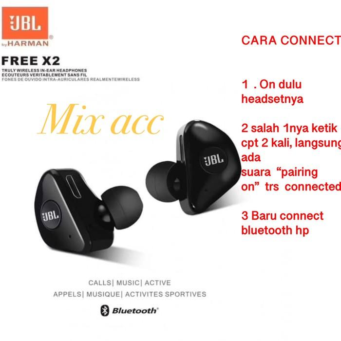 Headset Bluetooth Jbl X2 Wireless Earphone Bluetooth Isi 2 L R Shopee Indonesia