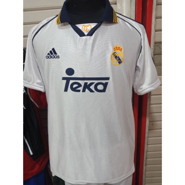 separation shoes db128 61728 Jersey retro real madrid teka 1998 home