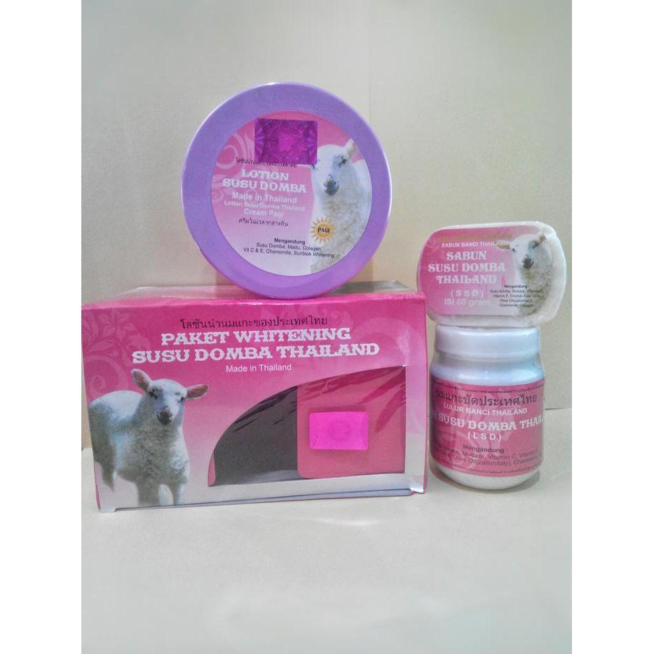 Thai Cosmetics Paket Pemutih Tubuh Herbal Susu Domba Cek Cream Dapatkan Harga Diskon Shopee Indonesia Source