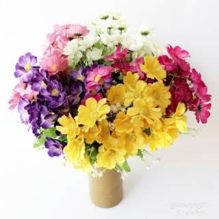 af32 bunga aster artificial dekorasi rumah gedung wedding