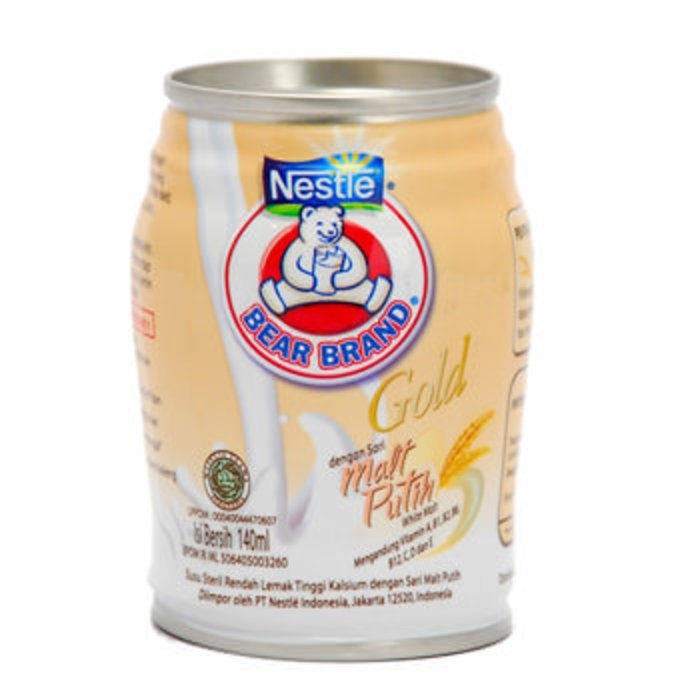 Bear Brand Susu Gold Malt Putih 140ml Shopee Indonesia