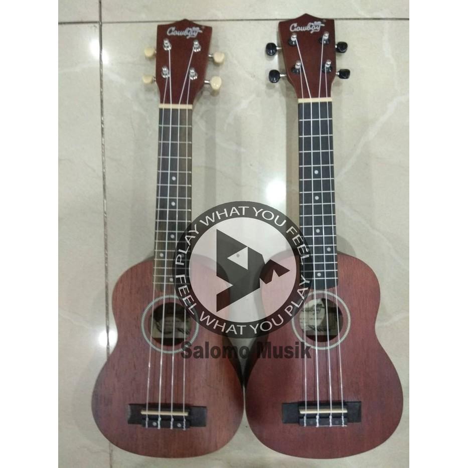 Diskon Ukulele Soprano Cowboy Warna Coklat Brown Free Tas Dan Senar Gitar 1 Set Shopee Indonesia