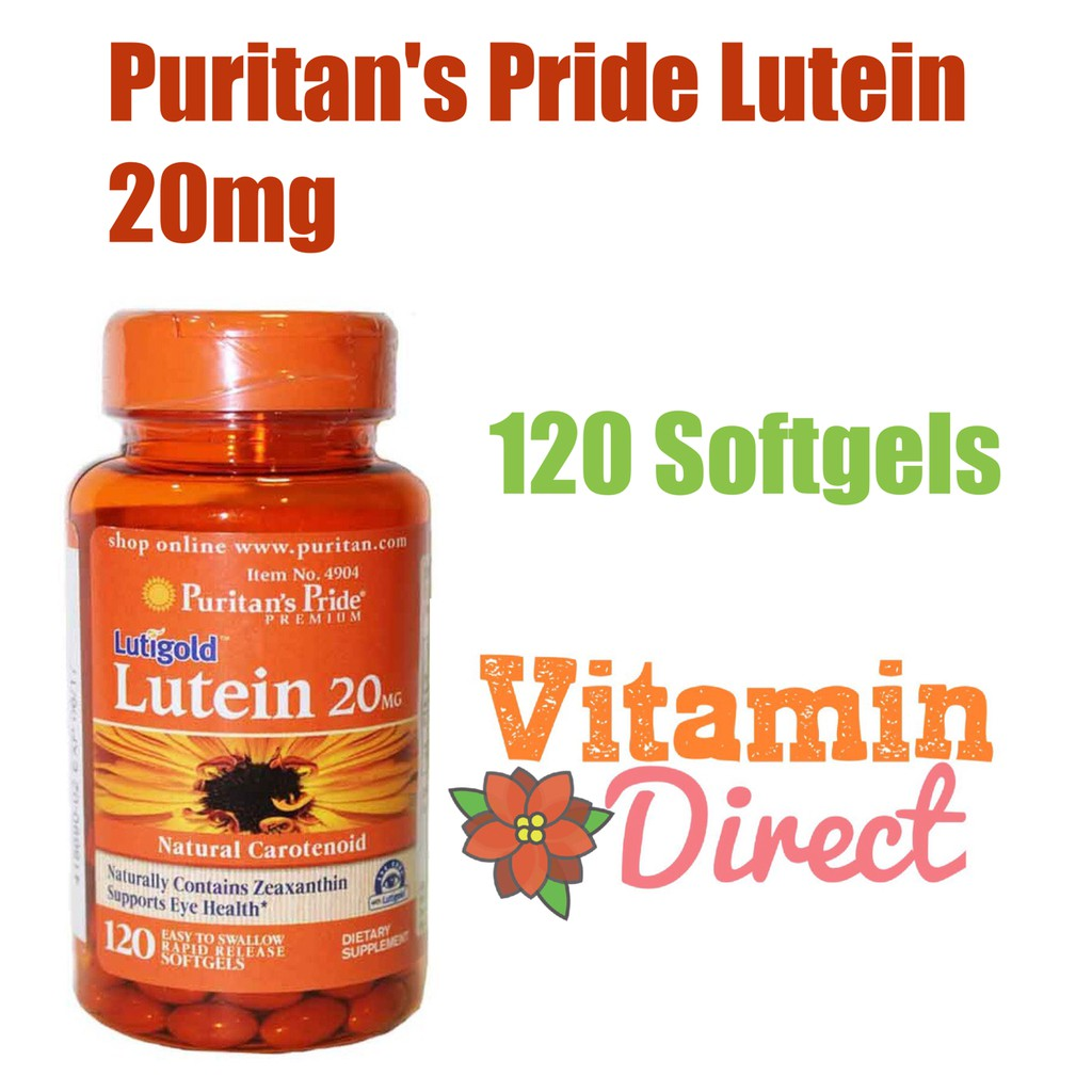 Puritan Pride Lutein 20 mg with Zeaxanthin 120 Softgel | Shopee Indonesia