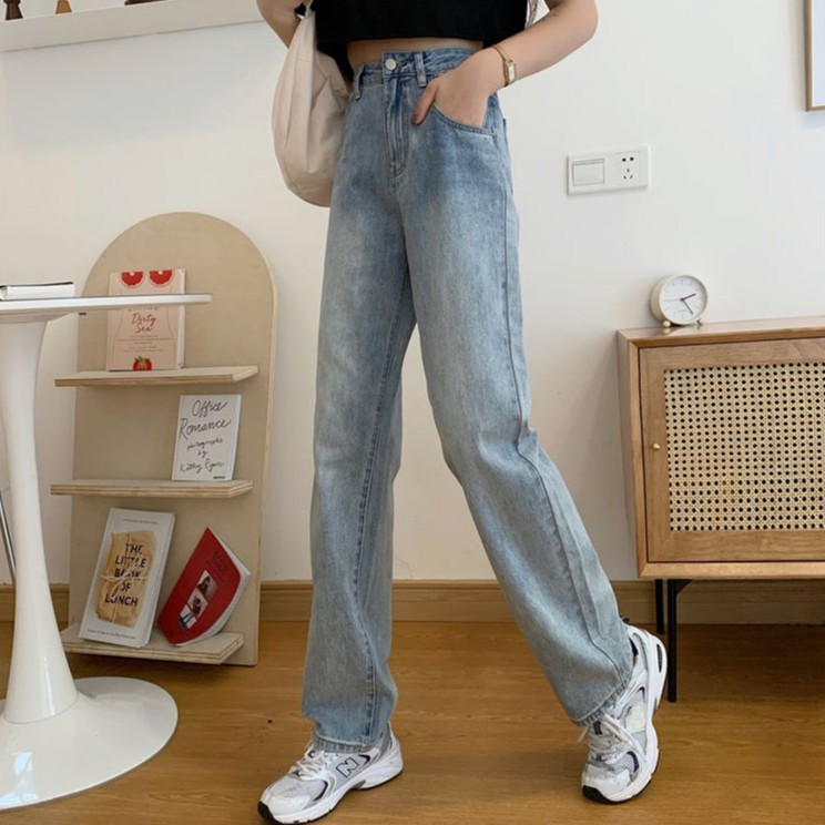 New Korean Retro High-Waisted Loose Jeans