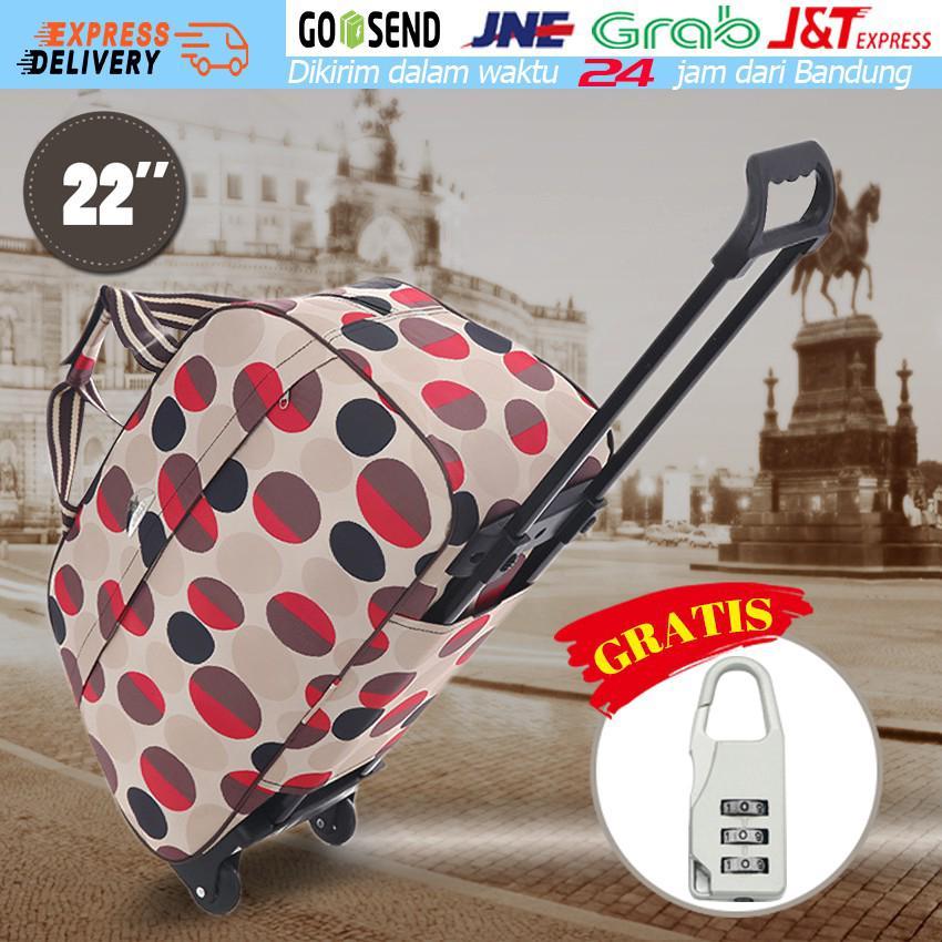 e186409993b Bagasi Troli Travel Bag Bagasi Troli Bagasi Wanita & Pria Tas Duffel Tas  Koper Dengan Roda