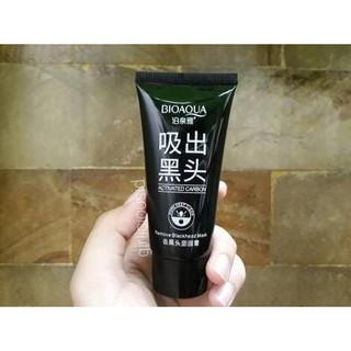 New Realese bioaqua black mask / actived carbon remove blackhead peel off mask !