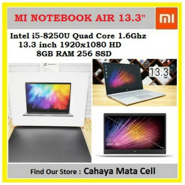 Xiaomi Mi Notebook Air 13.3 inch 256GB i5 8250U Windows 10 English Home Notebook