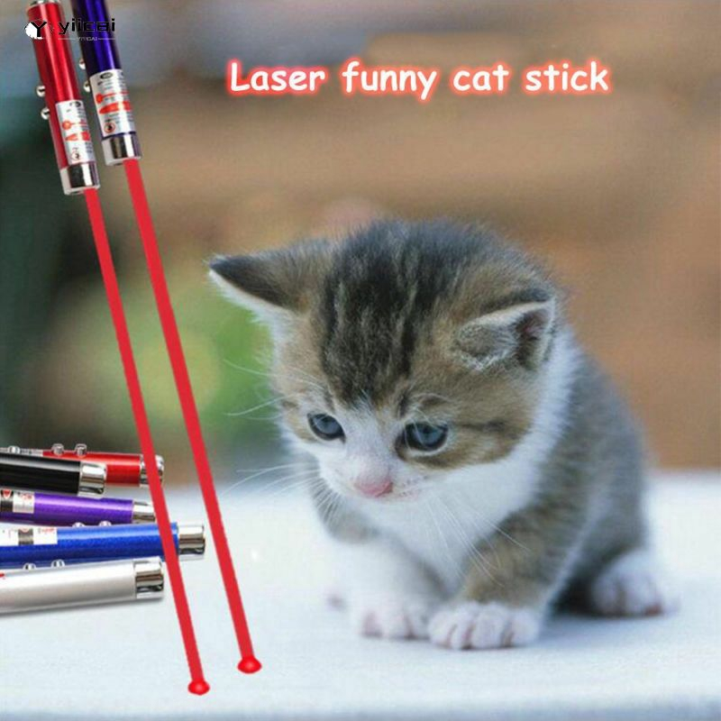 Laser Pointer Led Mainan Interaktif Warna Acak Untuk Kucing Peliharaan Shopee Indonesia