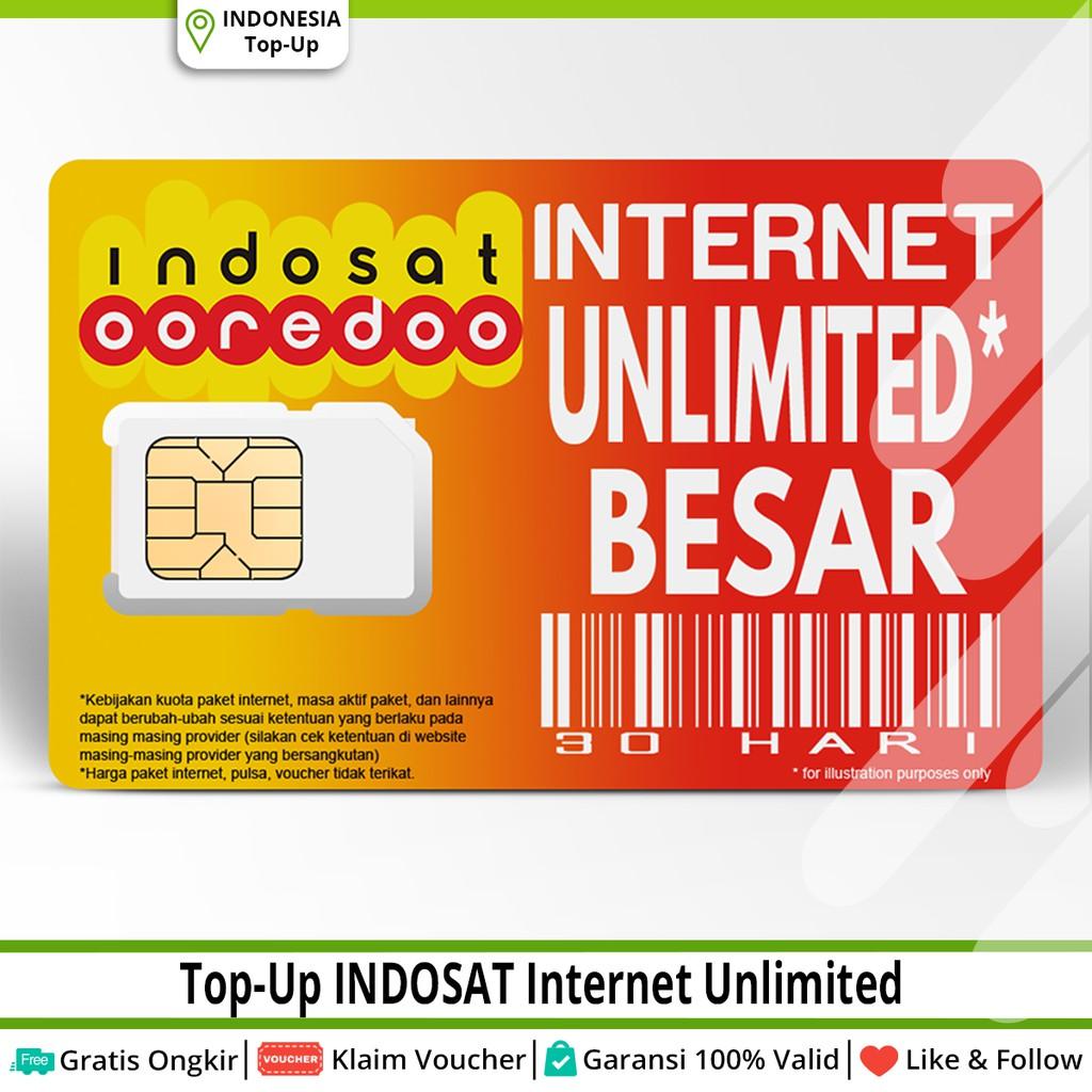 Paket Data Kuota Internet Indosat Unlimited 1gb 2gb 3gb 7gb 10gb