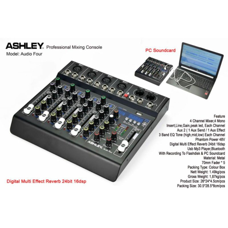 mixer ashley audio four/ashley audio four