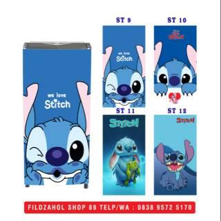 Stiker Kulkas 1 Dan 2 Pintu Motif Gambar Stitch Lucu Shopee Indonesia