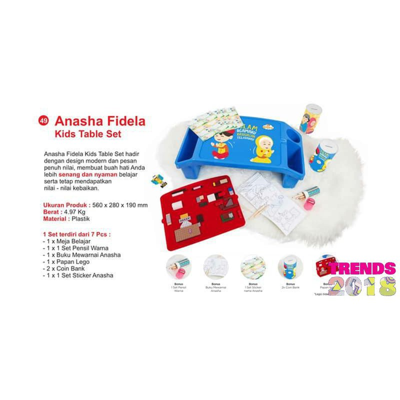Anasha Fidela Kids Table Set Meja Belajar Anak Shopee Indonesia