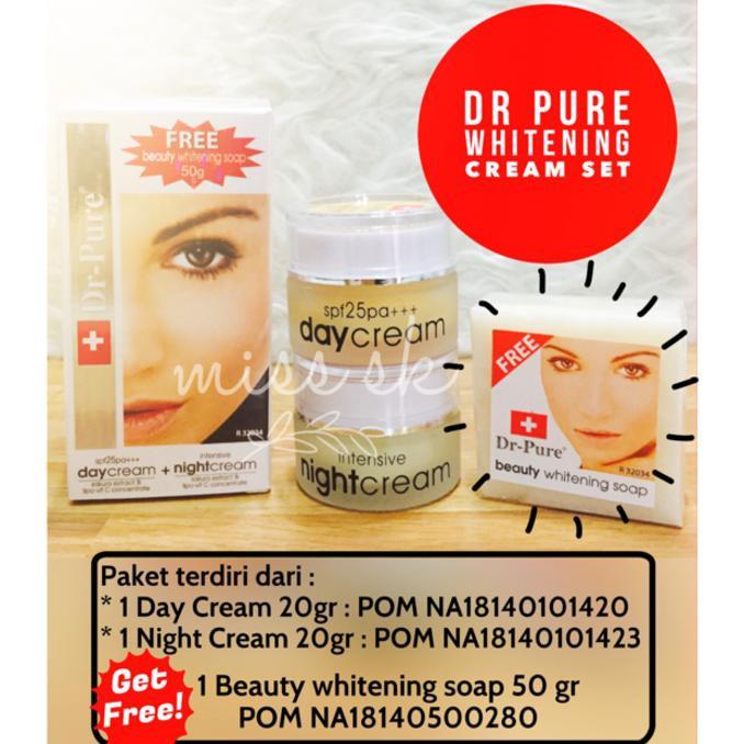 pemutih wajah natural wajah putih berseri dr pure whitening cream pemutih wajah bpom cream muka   Shopee Indonesia