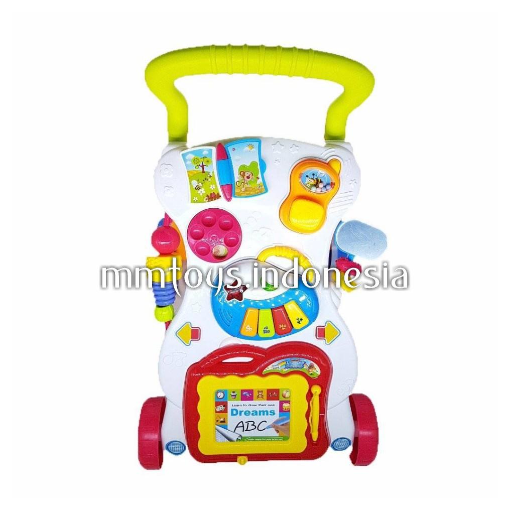 Gogo Baby Walker He0801 Push Musical Alat Bantu Bayi Belajar Jalan Shopee Indonesia
