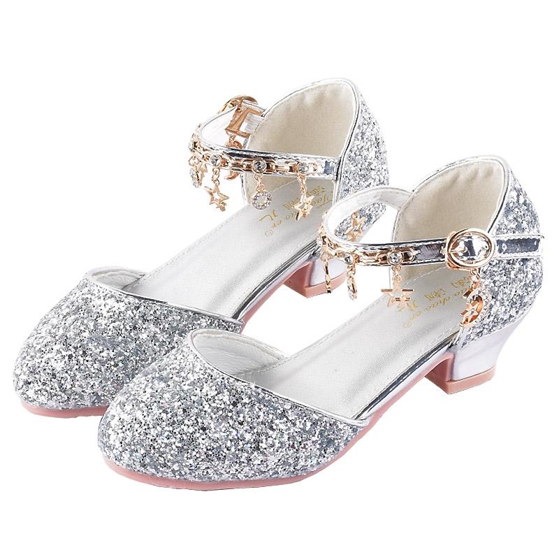 Gadis Putri Sepatu 2020 Gaya Barat Gadis Kecil Yang Baru Sepatu Kristal Berpakaian Sepatu Catwalk Ac Shopee Indonesia