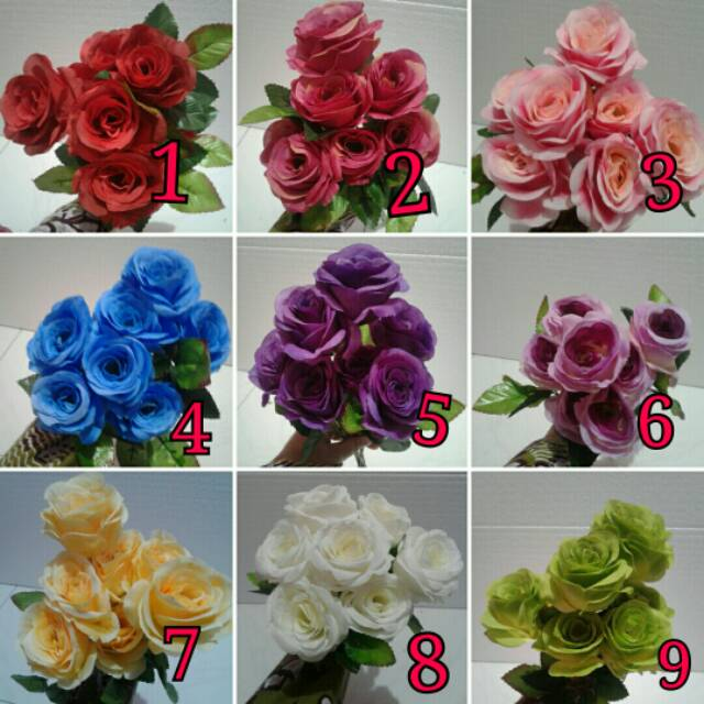 Bunga Artificial Grosir Bunga Mawar Plastik Bunga Dekorasi Murah Shopee Indonesia