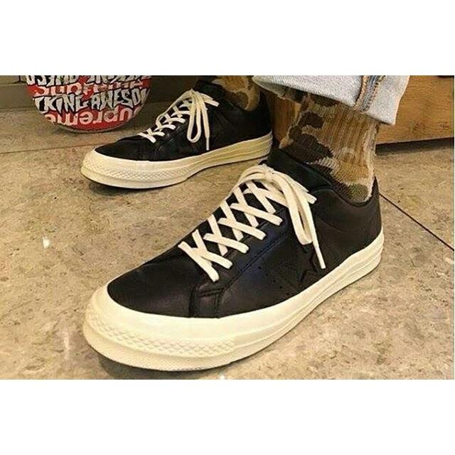 Sepatu CONVERSE One Star 74 OX Leather Black (ORIGINAL)  2e16087e2f