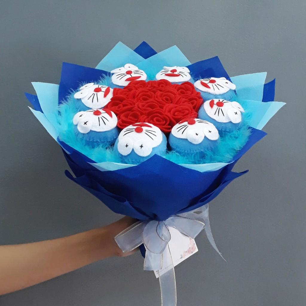 Buket Bunga Artificial Doraemon Kado Ulang Tahun - Anniversary - Wisuda -  Valentine  fa6b31ae3f