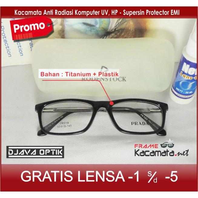 Frame Kacamata Minus Nike Sporty + Lensa Minus Baca Antiradiasi Komputer  Kacamata Pria Wanita Kotak  d16d53490f