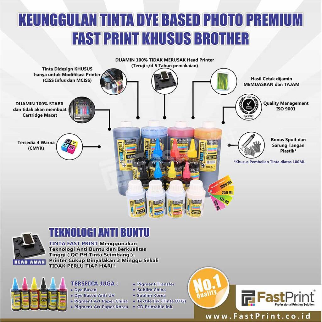 Tinta Dye Based Photo Premium 100ml Printer Epson 1set 6warna Fast Print Yellow 70ml Ultimate Plus Uv Khusus L Series 6 Warna L800 L850 L1800 Shopee Indonesia