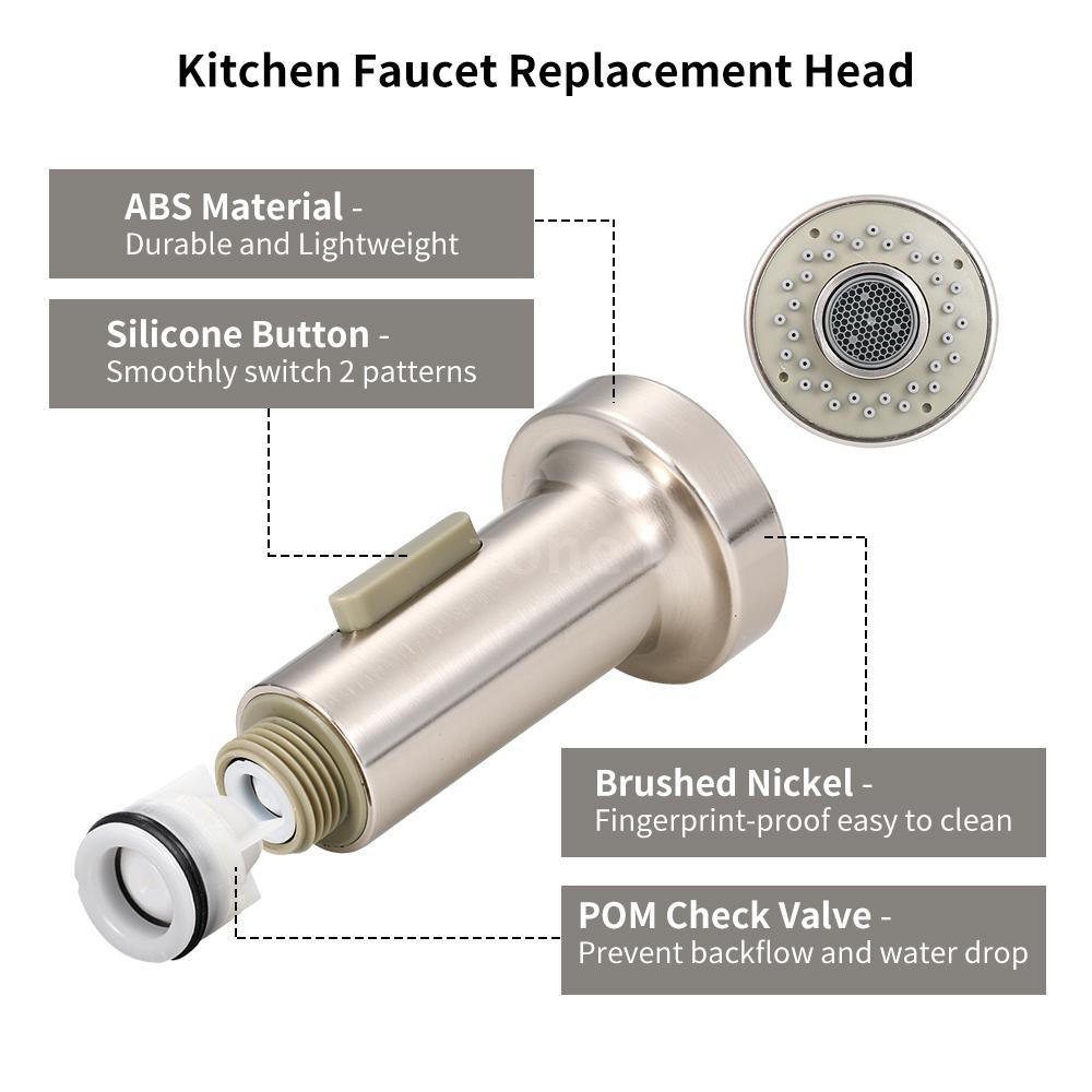 Zone Kitchen Faucet Pull Out Spray Head 2 Function With Check Valve Pull Down Spray Head G1 2 Repla Shopee Indonesia