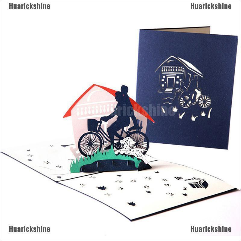 Huarickshine Father And Me 3d Pop Up Card Thank You Card Paper Laser Cutting Greeting Cards Shopee Indonesia