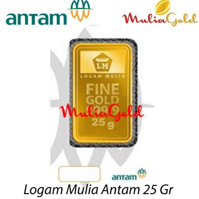 Free Ongkir Emas Batangan Hk 9999 Logam Mulia Emas 24k 25 Gram
