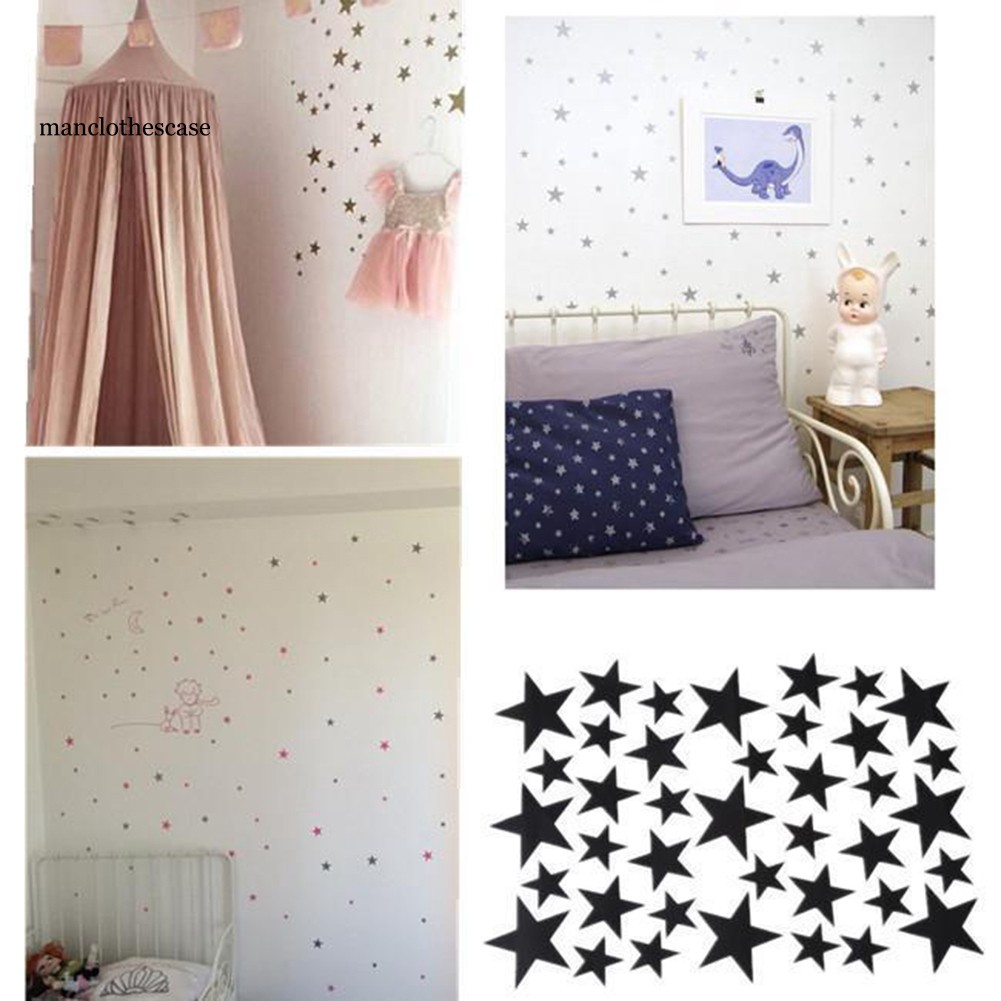 Manc 1 Sheet Stars Removable Wall Sticker Kids Baby Room Decor Art Diy Mural Decal Shopee Indonesia