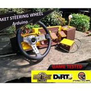 Steering Wheel Diy Stir Pedal Shifter Ets2 Dirt3 Rfactor Simulator Bus Shopee Indonesia